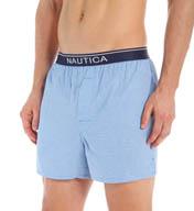 Nautica 100% Cotton Small Check Woven Boxer WB06S5