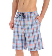 Nautica 100% Cotton Plaid Woven Sleep Short WH77S5