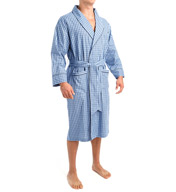 Nautica Anchor 100% Cotton Plaid Robe WR43S5