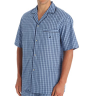 Nautica Anchor 100% Cotton Plaid Camp Shirt WS43S5