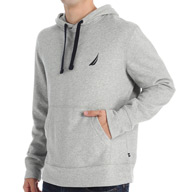 Nautica Big and Tall Solid Pop Over Hoodie Fleece Z53191