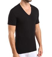 Nero Perla Comfort V-Neck T-Shirt M012982