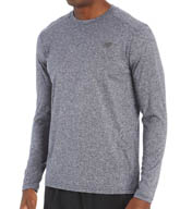 New Balance Long Sleeve Heather Tech Performance Tee MFT4375