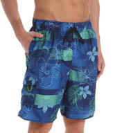 Newport Blue Red Tide Event Blue Swim Trunks 35P0418