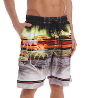 Newport Blue Skyline Print Swim Trunks 35P0425