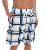 Newport Blue North Shore Plaid Swim Trunks 35P0485