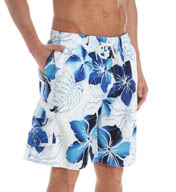 Newport Blue Perio Radius Blue Floral Swim Trunks 35P0486