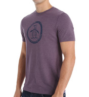 Original Penguin Tri-Blend Circle Logo Crew Neck Tee F5611