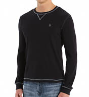 Original Penguin Waffle Long Sleeve Crewneck Shirt OPK3097