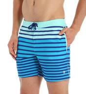 Original Penguin Tri Color Engineered Stripe Swim Short OPS5095