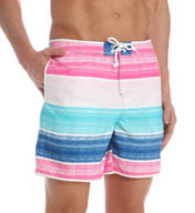 Original Penguin Cloud Stripe Swim Short OPS5494
