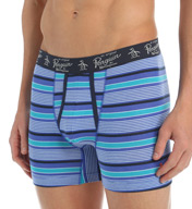 Original Penguin Fashion Prep Stripe Cotton Spandex Boxer Brief RPM3141