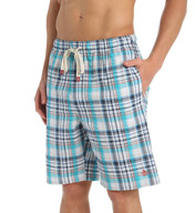 Original Penguin Barefoot Plaid 100% Cotton Sleep Short RPM7209
