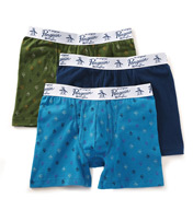 Original Penguin Cotton Stretch Fashion Knit Trunks - 3 Pack RPM8204