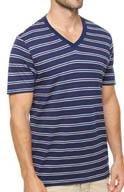 Pact Americana Stripe V-Neck T-Shirt MSVAMS