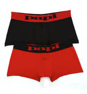 Papi Modern Stretch Solid Brazilian Trunks - 2 Pack 626189