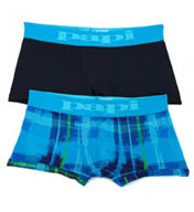 Papi Modern Stretch Brushstroke Plaid Trunks - 2 Pack 626198