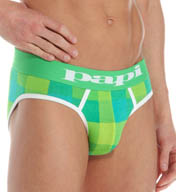 Papi Eye Candy 2 Buffalo Plaid Low Rise Briefs 980410