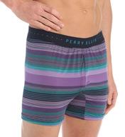 Perry Ellis Trim Luxe Microfiber Stripe Boxer 163026