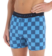 Perry Ellis Trim Luxe Microfiber Checker Boxer 163029