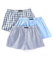 Perry Ellis Small Plaid Assorted Woven Boxers - 3 Pack 879767