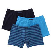 Perry Ellis Cotton Stretch Striped Boxer Briefs- 3 Pack 960573