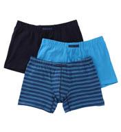 Perry Ellis Cotton Stretch Striped Boxer Briefs- 3 Pack 960573