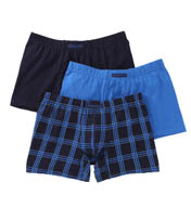 Perry Ellis Cotton Stretch Plaid Boxer Briefs- 3 Pack 960574