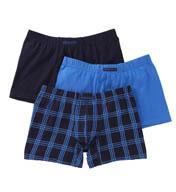 Perry Ellis Cotton Stretch Plaid Boxer Briefs- 3 Pack 960574