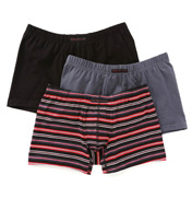 Perry Ellis Cotton Stretch Striped Boxer Briefs- 3 Pack 960575