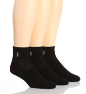 Polo Ralph Lauren Tech Athletic Quarter Top Socks - 3 Pack 824063PK