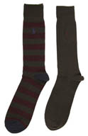 Polo Ralph Lauren Rib Stripe Socks - 2 Pack 8939PK