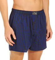Polo Ralph Lauren 100% Cotton Plaid Woven Boxer L018