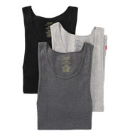 Polo Ralph Lauren Ribbed 100% Cotton Tanks - 3 Pack LCTK