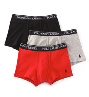Polo Ralph Lauren Classic Fit 100% Cotton Trunks - 3 Pack LCTR