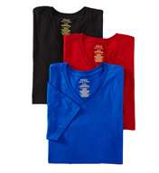 Polo Ralph Lauren Classic Fit 100% Cotton V-Neck Shirts - 3 Pack LCVN