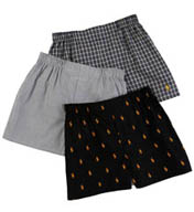 Polo Ralph Lauren Classic Fit 100% Cotton Woven Boxers - 3 Pack P299