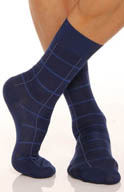 Punto Windowpane Sock 302277