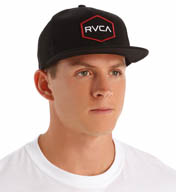 RVCA Badger Patch Snapback Hat M8AHWBDG