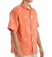 Tommy Bahama Aloha Floral Silk Short Sleeve Button Down Shirt T311918
