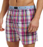 Tommy Hilfiger Monterey Plaid with Flags Woven Boxer 09T1175