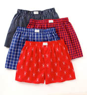 Tommy Hilfiger Woven Boxer Assortment - 4 Pack 09T2032