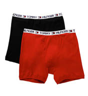 Tommy Hilfiger Big Man Woven Boxer Brief w/Logo Band - 2 Pack 09TB021