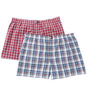 Tommy Hilfiger Big and Tall Woven Plaid Boxer - 2 Pack 09TB023