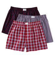 Tommy Hilfiger 100% Cotton Woven Boxer - 3 Pack 09TV0
