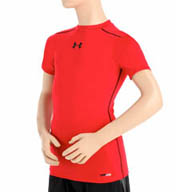 Under Armour Boys HeatGear Sonic Fit Short Sleeve Tee 1236087