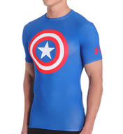 Under Armour Alter Ego Captain America Compression SS Shirt 1244399C