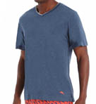 Heather Cotton Jersey V Neck Tee Image