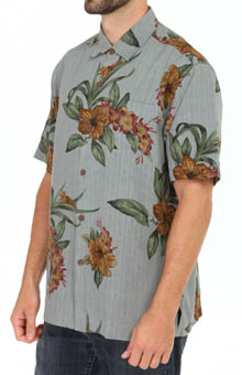 Tommy Bahama Garden Square Silk Camp Shirt T35320