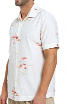 Tommy Bahama Let's Go Flamingo Silk Camp Shirt T35350